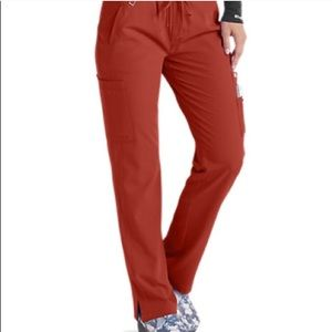 Tuscany Orange 2X Grey's Anatoly Scrub Pants